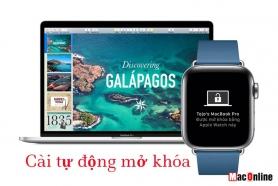 bật tự động mở khóa trên Macbook và Apple Watch của bạn